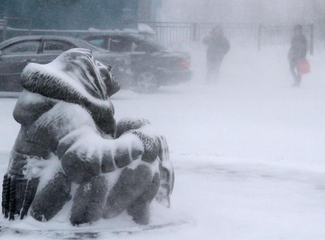 A Norilsk (Russie), en février 2020.