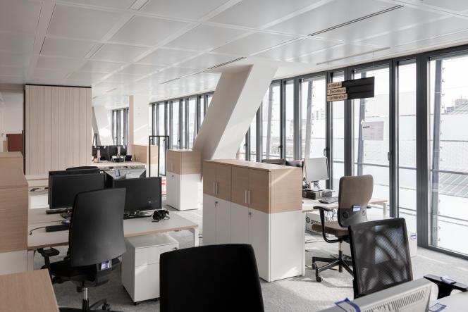 Service «DECODEURS» au siège du journal Le Monde.
