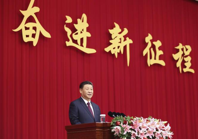 Le président chinois, Xi Jinping, pour le Nouvel An à Pékin, le 31 décembre 2020.