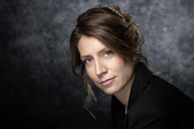 Adèle Van Reeth à Cannes (Alpes-Maritimes, le 6 avril 2019.