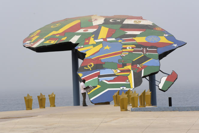 Sur la place du Souvenir africain, à Dakar, en 2016.