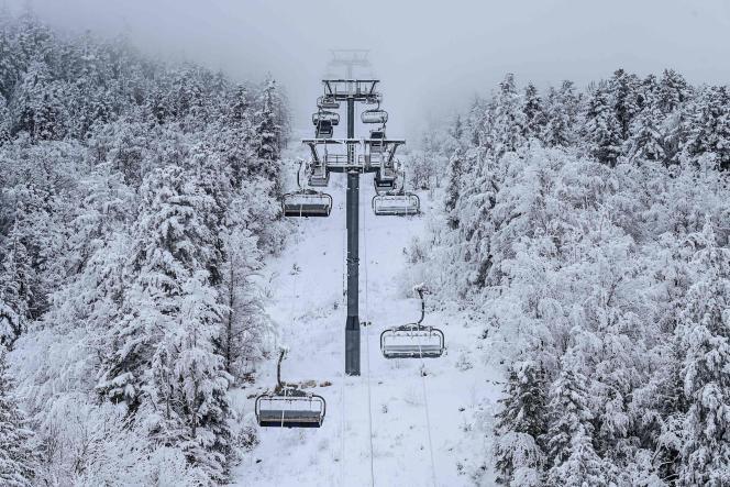 La station de ski de Villard-de-Lans (Isère), le 5 janvier 2021.