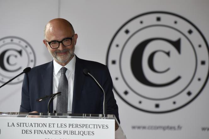 Le président de la Cour des comptes, Pierre Moscovici, à Paris, le 30 juin 2020.