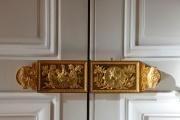 Au palais de l'Elysée, des portes arborant les symboles de la République, à Paris, le 18 janvier.