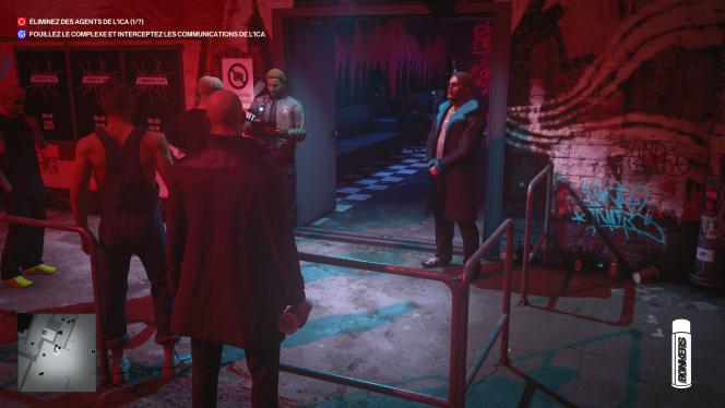 Des videurs de boîte de nuit qui n'ont pas l'air de vouloir nous laisser entrer.