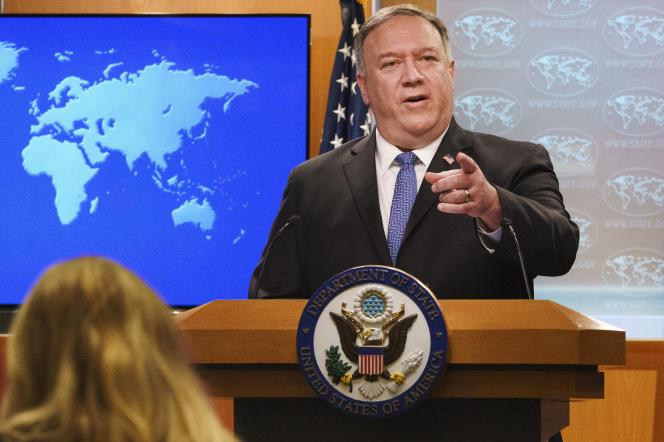 Le secrétaire d'Etat américain Mike Pompeo, le 10 novembre 2020.