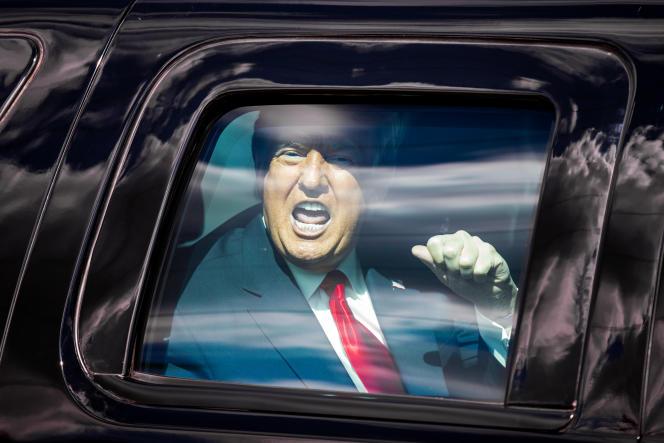 Le président sortant américain, Donald Trump, rejoint sa résidence de Mar-a-Lago, en Floride, mercredi 20 janvier.