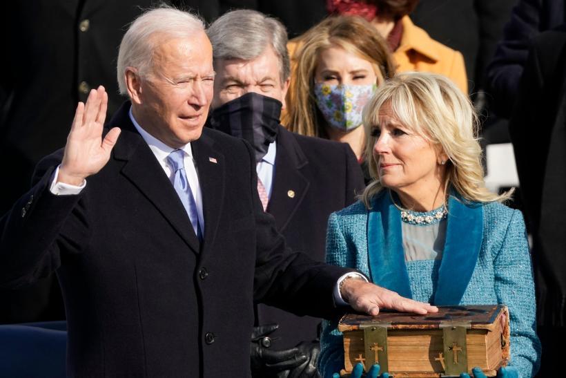 Joe Biden prête serment, le 20janvier 2021, à Washington, DC.