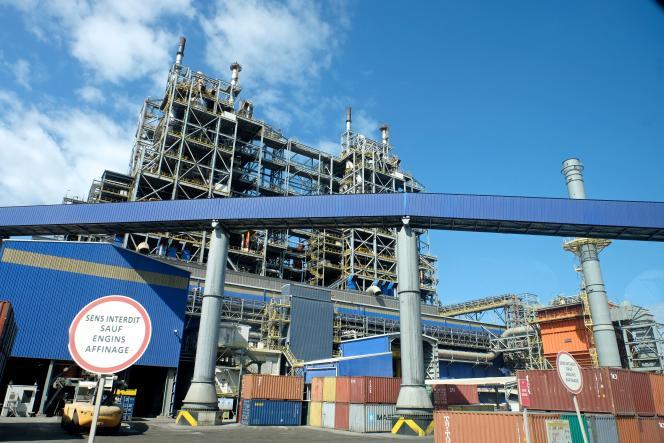 L'usine Koniambo Nickel SAS, en Nouvelle-Calédonie, en juillet 2016.