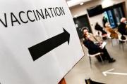 Un centre de vaccination à Quimper (Finistère), le 20 janvier.