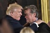 Donald Trump et Steve Bannon en 2017.