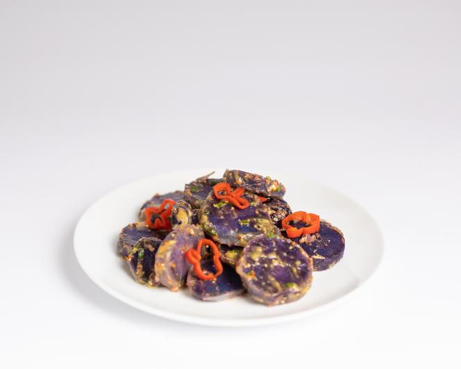 La salade de pommes de terre (variété violette Ulysse) de Pierre Gayet.
