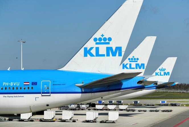 Des avions sous pavillon KLM, le 2 avril 2020.