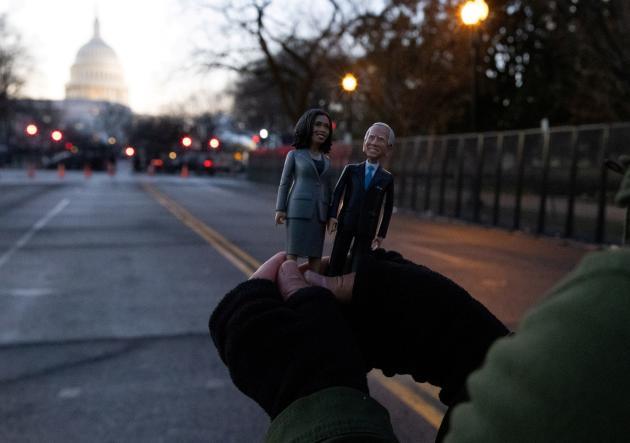 در خیابانهای خلوت واشنگتن در تاریخ 20 ژانویه.