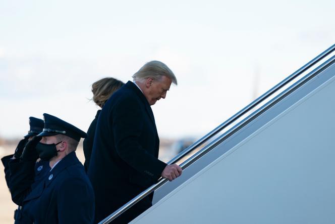 Donald Trump et Melania Trump, le 20 janvier 2021.