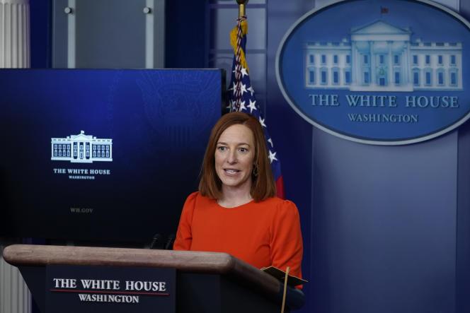 Jen Psaki, portavoz de la Casa Blanca, el 21 de enero.