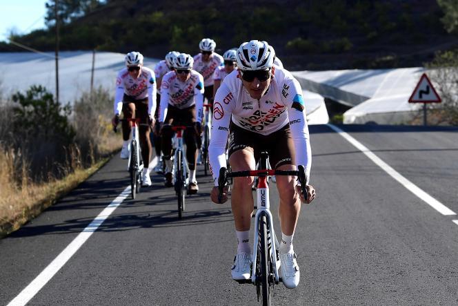 Le cycliste Nans Peters, à Denia (Espagne), le 21 janvier.