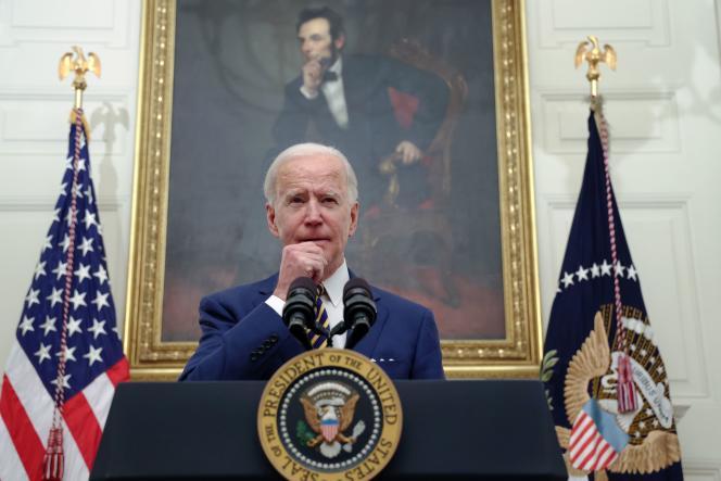 Le nouveau président américain, Joe Biden, s'exprime sur le plan de relance de son administration, le 22 janvier à la Maison Blanche, à Washington.