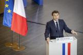 Emmanuel Macron, président de la République, à Palaiseau, le 21 janvier.