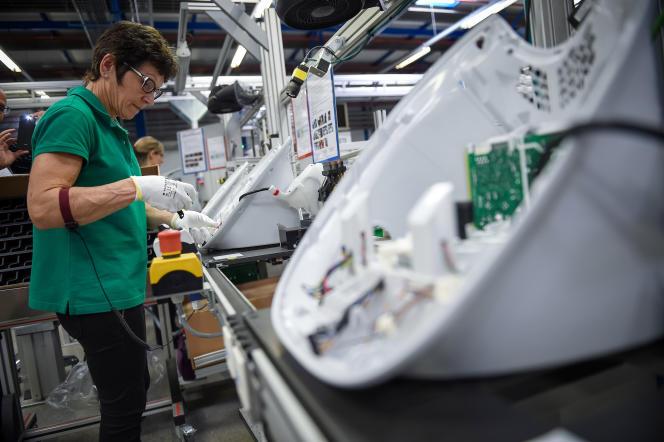کارخانه تولید ربات آشپزی Thermomix ، در Cloyes-sur-le-Loir (Eure-et-Loir) ، در تاریخ 19 مه 2017.