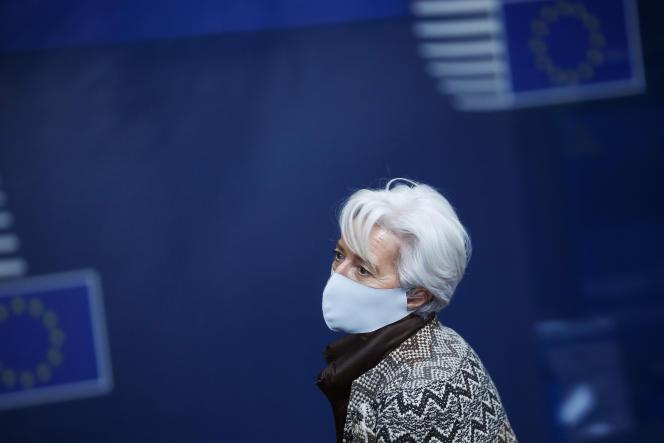 Christine Lagarde, présidente de la Banque centrale européenne, à Bruxelles, le 11 décembre 2020.