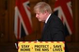 Le premier ministre britannique Boris Johnson, lors de sa conférence de presse du vendredi 22 janvier, àDowning Street, à Londres.
