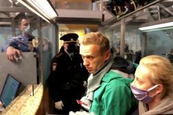 L'opposant russe Alexeï Navalny à son arrivée à l'aéroport Cheremetievo de Moscou, le 17 janvier 2021.