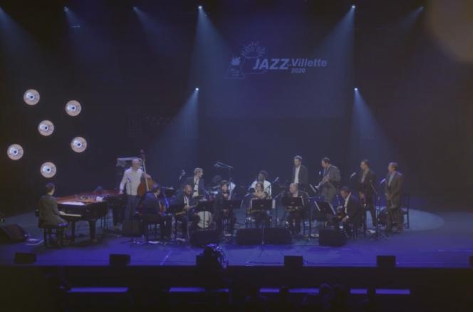 Le big band dirigé par Christophe Dal Sasso filmé lors du concert Africa / Brass Revisited au festival Jazz à La Villette.