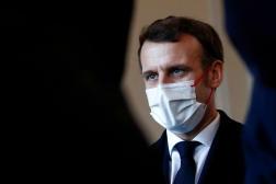 Emmanuel Macron à Brest le 19 janvier.