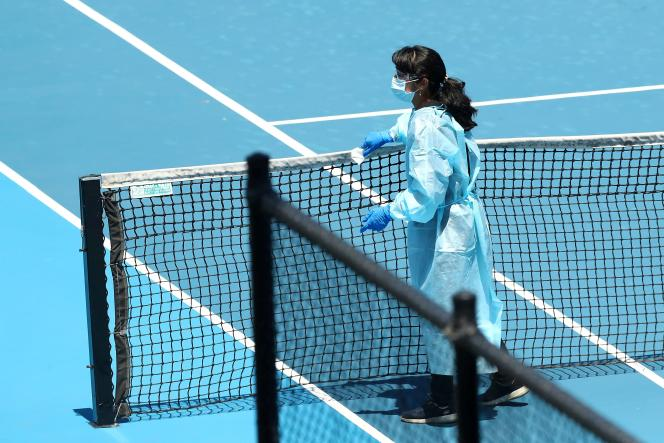 before the Australian Open, tennis players in isolation