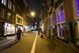 Dans les rues d'Amsterdam avant l'instauration d'un couvre-feu aux Pays-Bas samedi 23 janvier.