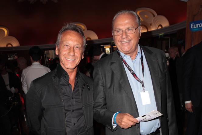 Daniel Moyne et Gérard Louvin, au Grand Rex, en 2014, à Paris.