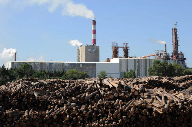 Vue de l'usine de Fibre Excellence à Tarascon, en 2014.