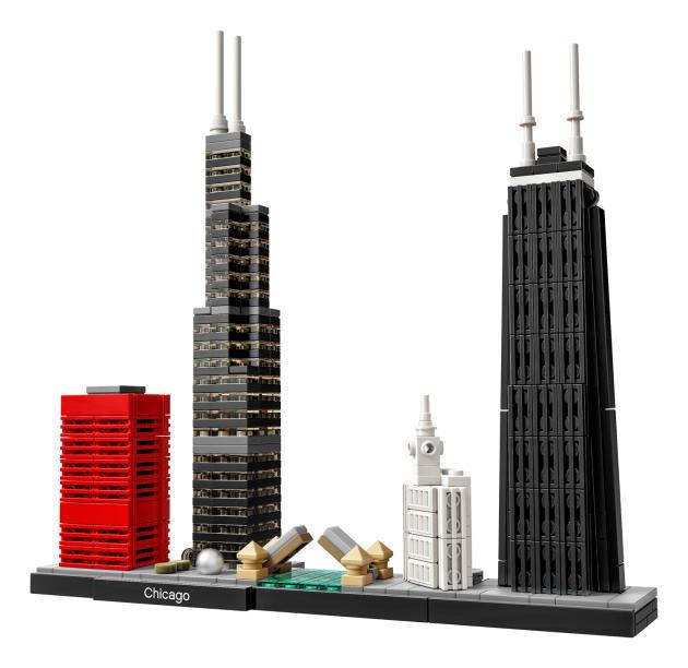 Le jeu de construction « Architecture Chicago» de Lego.