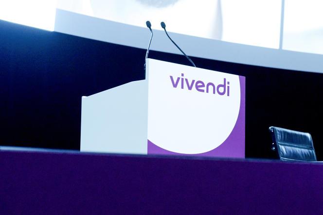 Lors de l'assemblée générale de Vivendi, à Paris, en avril 2018.