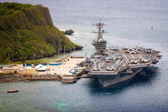 Le porte-avions américain «USS-Roosevelt», ici à Guam, en mai 2020.