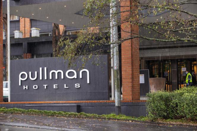 A l'hôtel Pullman d'Auckland, en juillet 2020. Trois personnes auraient été contaminées mi-janvier par le variant sud-africain dans cet hôtel, qui sert de lieu de quarantaine.