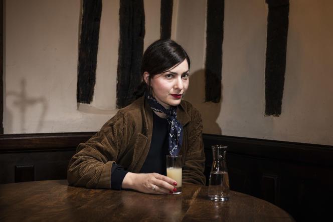 La réalisatrice Rebecca Zlotowski, au café Méhode, dans le quartier latin, à Paris, en mai 2019.