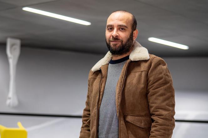 Ismaël Saidi, le 15 janvier dans les locaux du journal «Le Monde», à Paris.