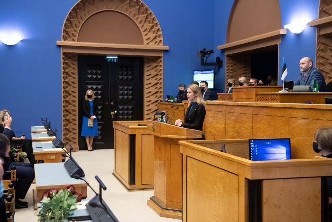 La première ministre estonienne, Kaja Kallas, le 26 janvier à Tallinn.