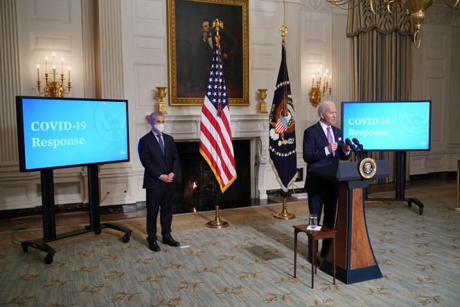 Joe Biden à Washington, le 26janvier.