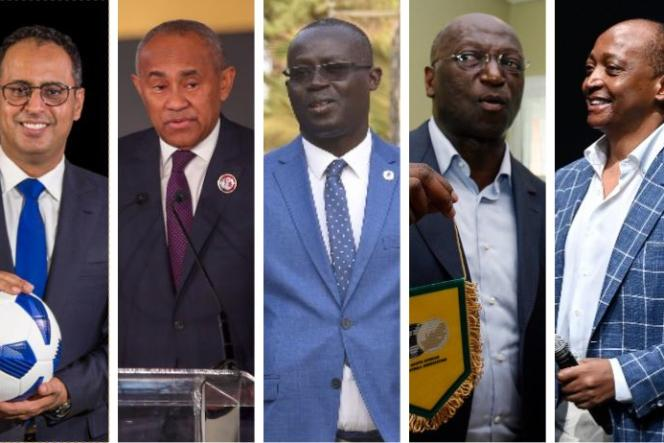 Ahmed Yahya, Ahmad Ahmad, Augustin Senghor, Jacques Anouma etPatrice Motsepe