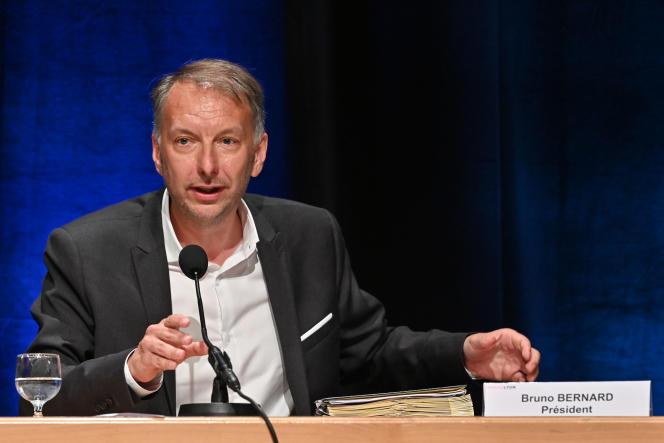 Bruno Bernard d'EELV après son élection à la présidence de Lyon Métropole, le 2 juillet 2020.