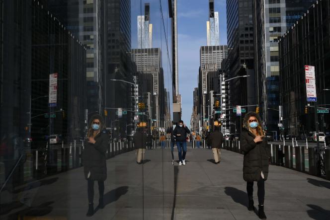 Dans Manhattan, le 25 janvier àNew York.