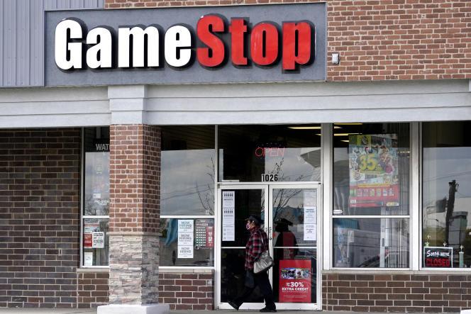 Devant une boutique GameStop, à Des Plaines (Illinois), le 15 octobre 2020.