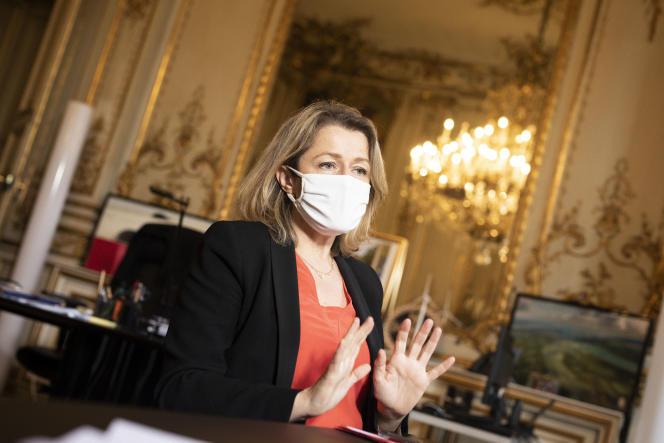 Barbara Pompili, ministre de la transition écologique, à Paris, le 25 janvier 2021.