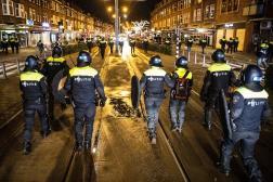 Lors d'une patrouille à Rotterdam, le 26 janvier.