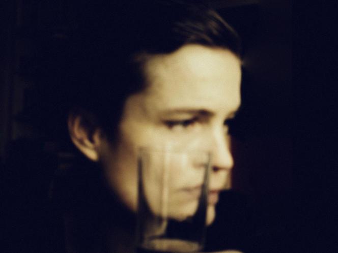Portrait de Sarah Biasini par écran interposé, à Paris, le 22 janvier.