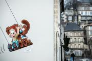 Dans les rues d'Angoulème, en février.