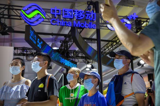 A la Foire internationale du commerce des services de Chine (CIFTIS), à Pékin, le 5 septembre 2020.